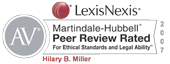 LexisNexis Martindale-Hubbell Peer Review Rated for Ethical Standards and Legal Ability
